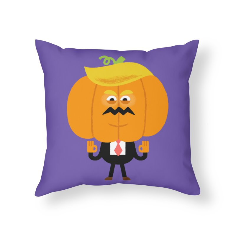 Trumpkin Home Throw Pillow by Mauro Gatti House of Fun