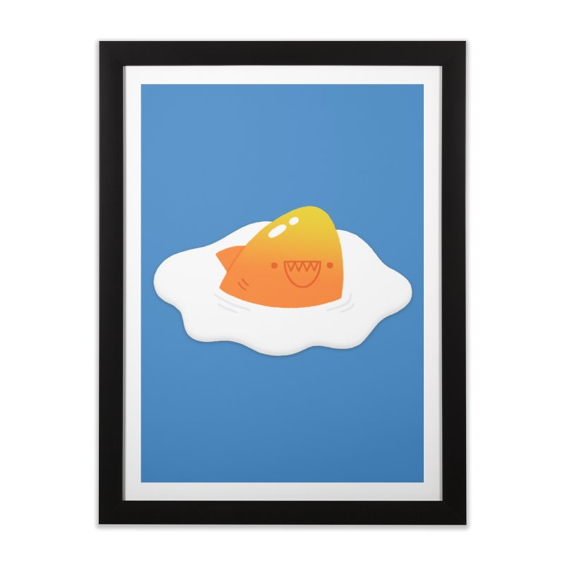 Dangerous Breakfast Home Framed Fine Art Print by Mauro Gatti House of Fun