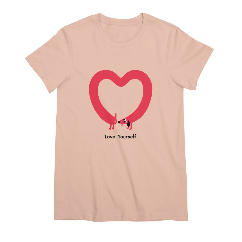Love Yourself Women's Premium T-Shirt by Mauro Gatti House of Fun