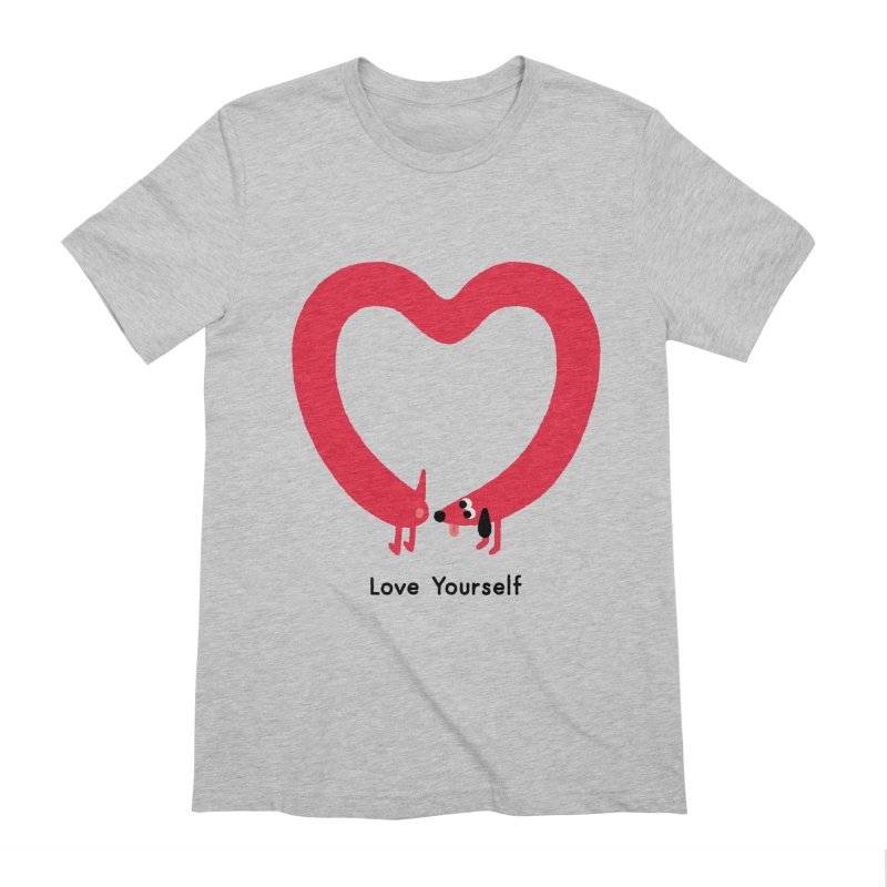 Love Yourself Men's Extra Soft T-Shirt by Mauro Gatti House of Fun