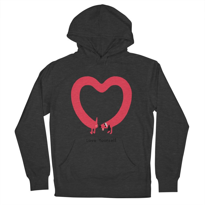 Love Yourself Women's French Terry Pullover Hoody by Mauro Gatti House of Fun