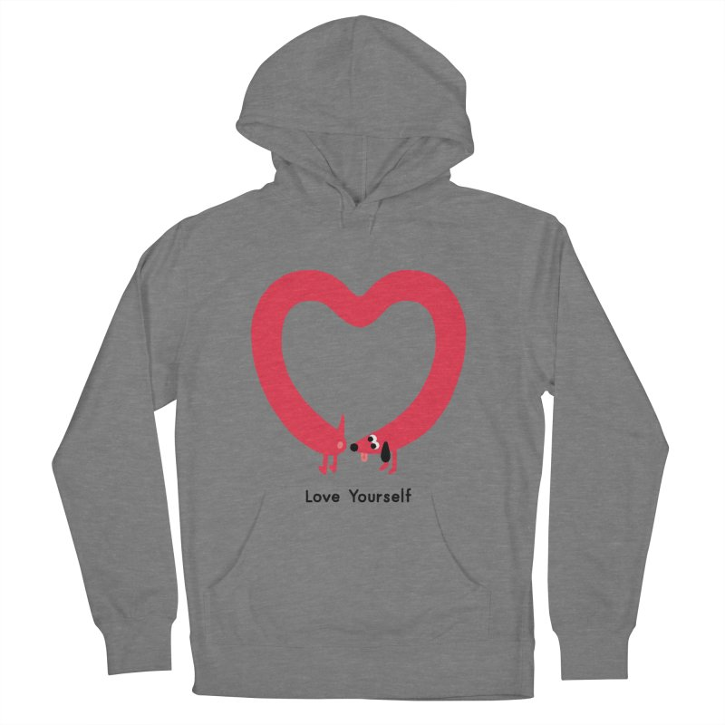 Love Yourself Women's Pullover Hoody by Mauro Gatti House of Fun
