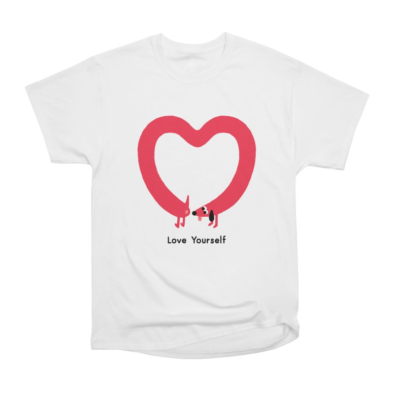 Love Yourself Men's Heavyweight T-Shirt by Mauro Gatti House of Fun