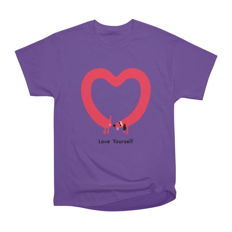 Love Yourself Men's Heavyweight T-Shirt by Mauro Gatti House of Fun