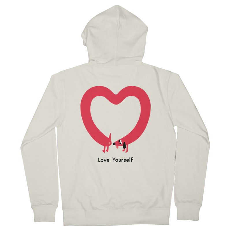 Love Yourself Men's French Terry Zip-Up Hoody by Mauro Gatti House of Fun