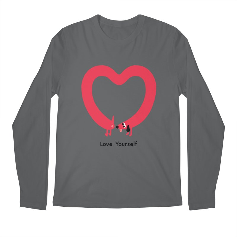 Love Yourself Men's Regular Longsleeve T-Shirt by Mauro Gatti House of Fun