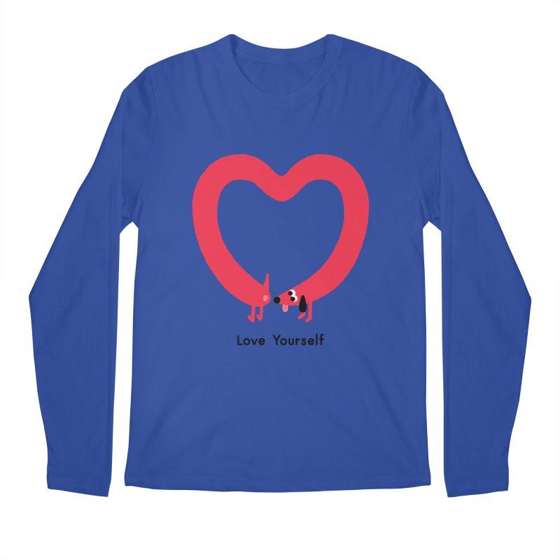 Love Yourself Men's Regular Longsleeve T-Shirt by Mauro Gatti House of Fun
