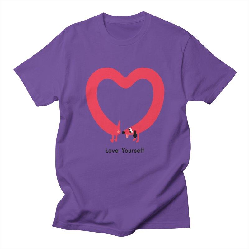 Love Yourself Men's Regular T-Shirt by Mauro Gatti House of Fun