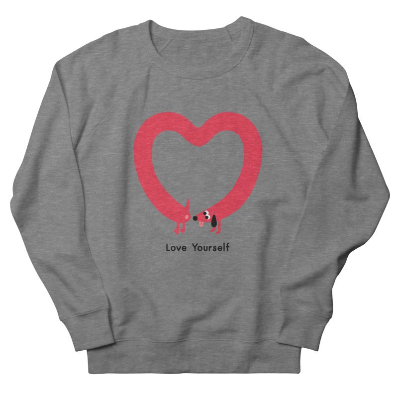 Love Yourself Women's French Terry Sweatshirt by Mauro Gatti House of Fun
