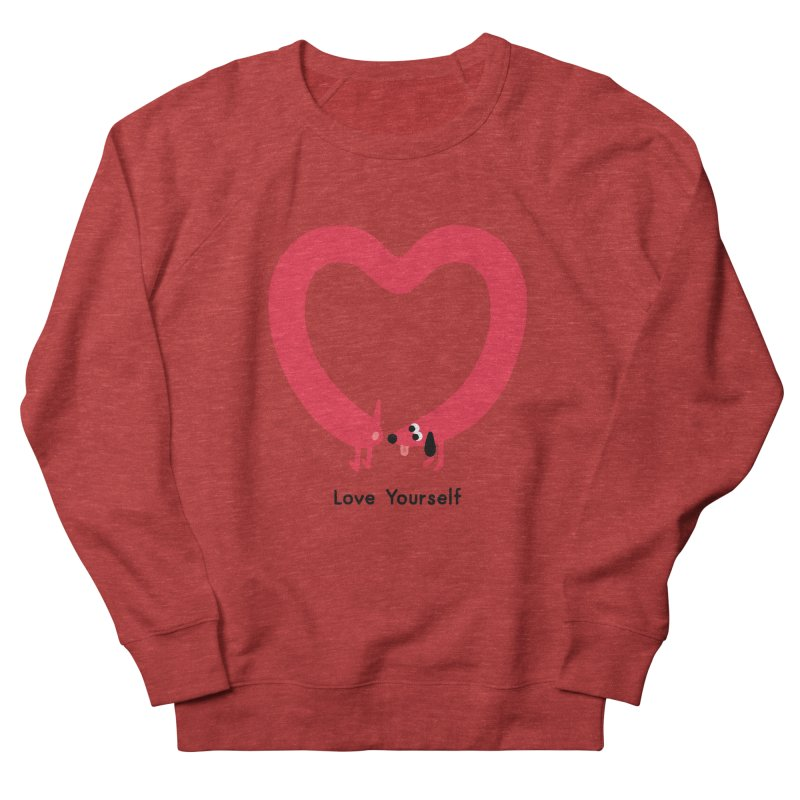 Love Yourself Women's French Terry Sweatshirt by Mauro Gatti House of Fun