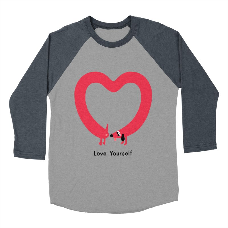Love Yourself Women's Baseball Triblend Longsleeve T-Shirt by Mauro Gatti House of Fun