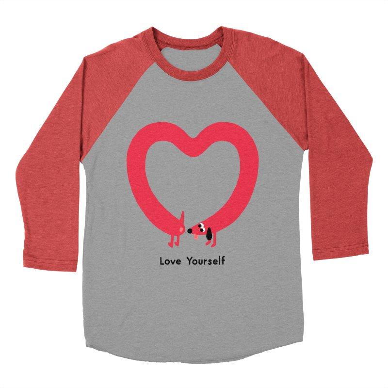 Love Yourself Men's Baseball Triblend Longsleeve T-Shirt by Mauro Gatti House of Fun