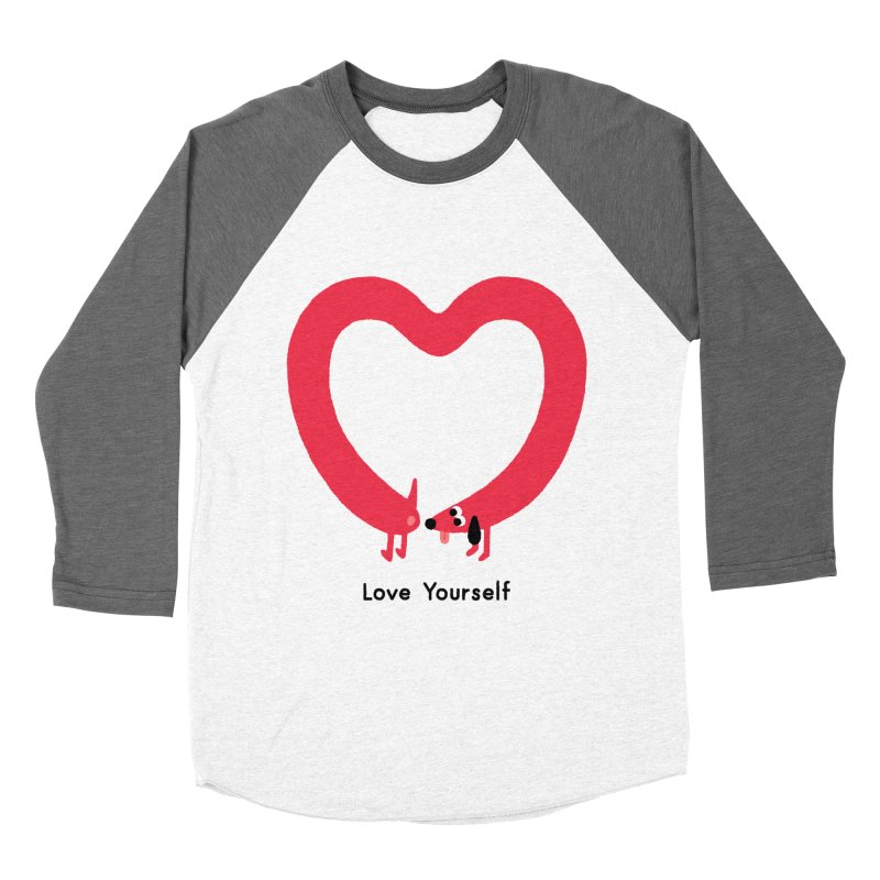 Love Yourself Men's Baseball Triblend Longsleeve T-Shirt by Mauro Gatti House of Fun