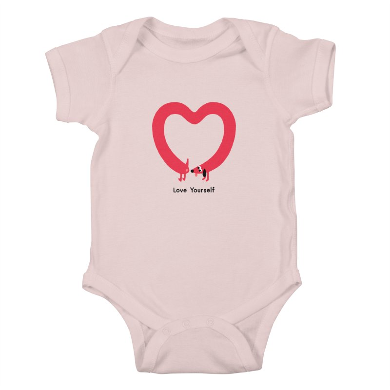 Love Yourself Kids Baby Bodysuit by Mauro Gatti House of Fun
