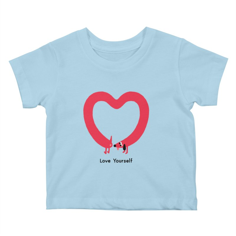Love Yourself Kids Baby T-Shirt by Mauro Gatti House of Fun