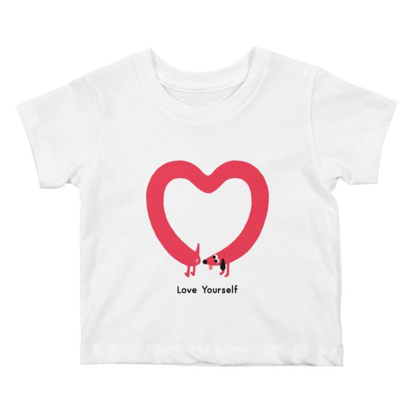 Love Yourself Kids Baby T-Shirt by Mauro Gatti House of Fun