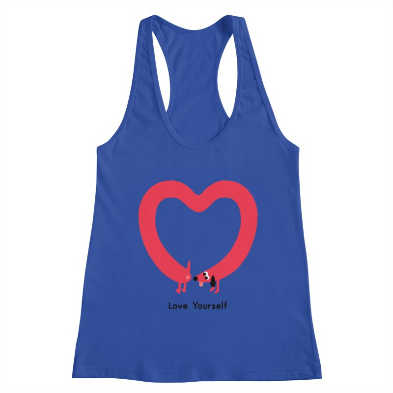 Love Yourself Women's Racerback Tank by Mauro Gatti House of Fun