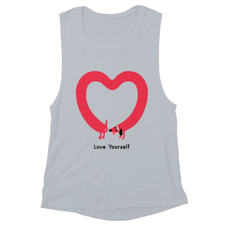 Love Yourself Women's Muscle Tank by Mauro Gatti House of Fun