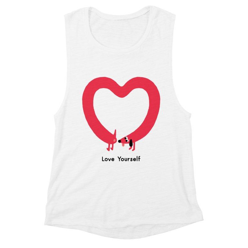 Love Yourself Women's Muscle Tank by Mauro Gatti House of Fun