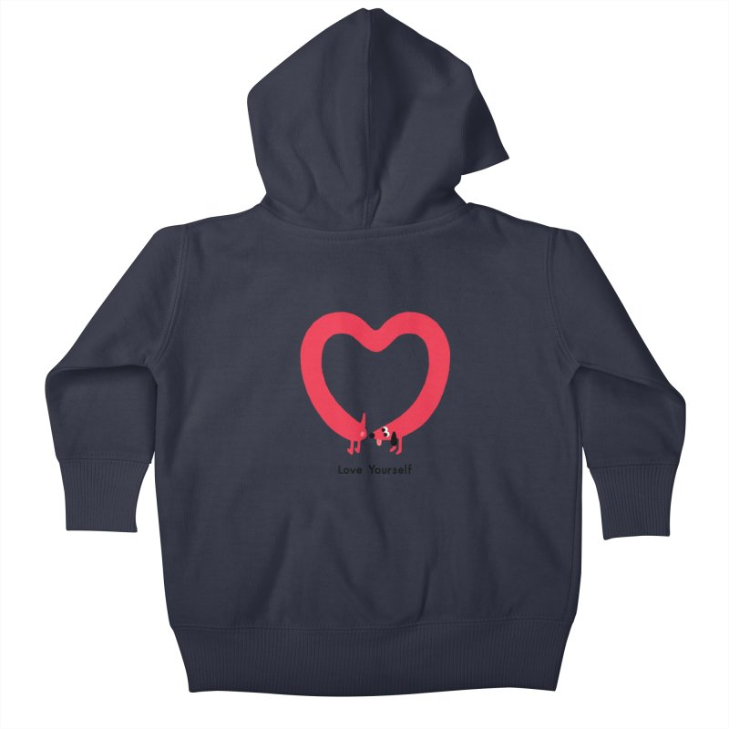 Love Yourself Kids Baby Zip-Up Hoody by Mauro Gatti House of Fun