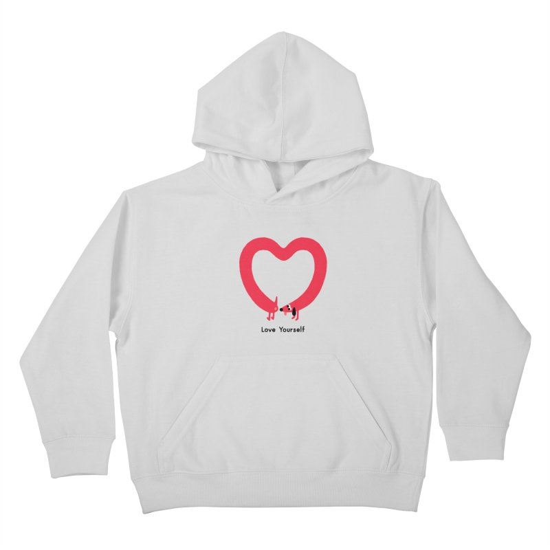 Love Yourself Kids Pullover Hoody by Mauro Gatti House of Fun