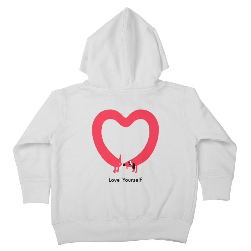 Love Yourself Kids Toddler Zip-Up Hoody by Mauro Gatti House of Fun