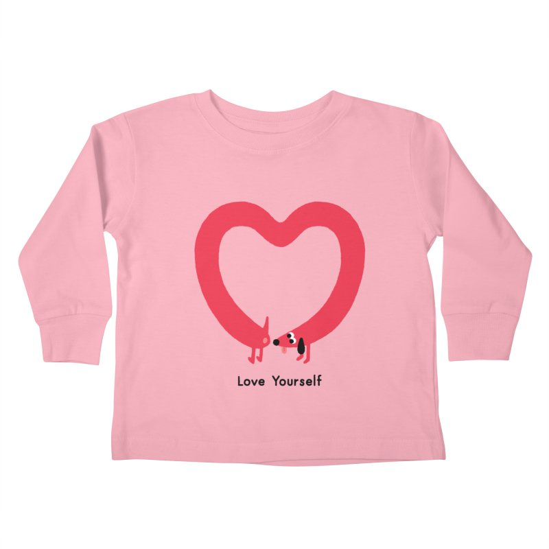 Love Yourself Kids Toddler Longsleeve T-Shirt by Mauro Gatti House of Fun