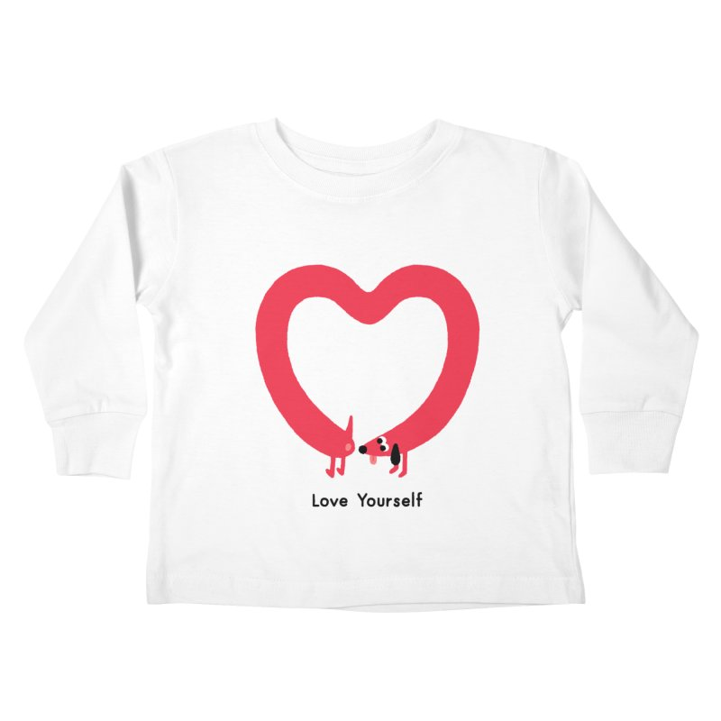 Love Yourself Kids Toddler Longsleeve T-Shirt by Mauro Gatti House of Fun