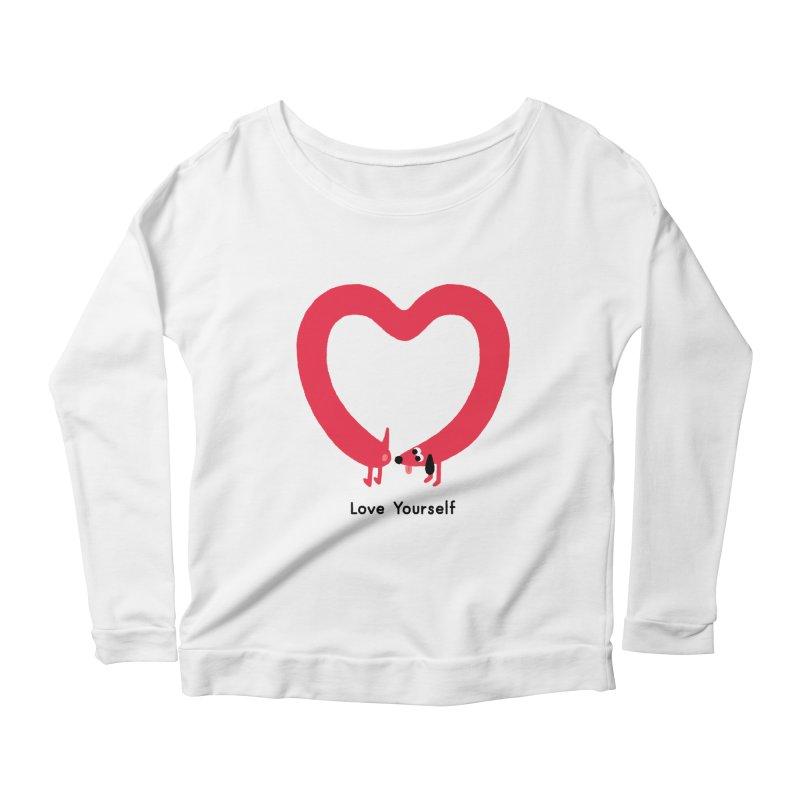 Love Yourself Women's Scoop Neck Longsleeve T-Shirt by Mauro Gatti House of Fun