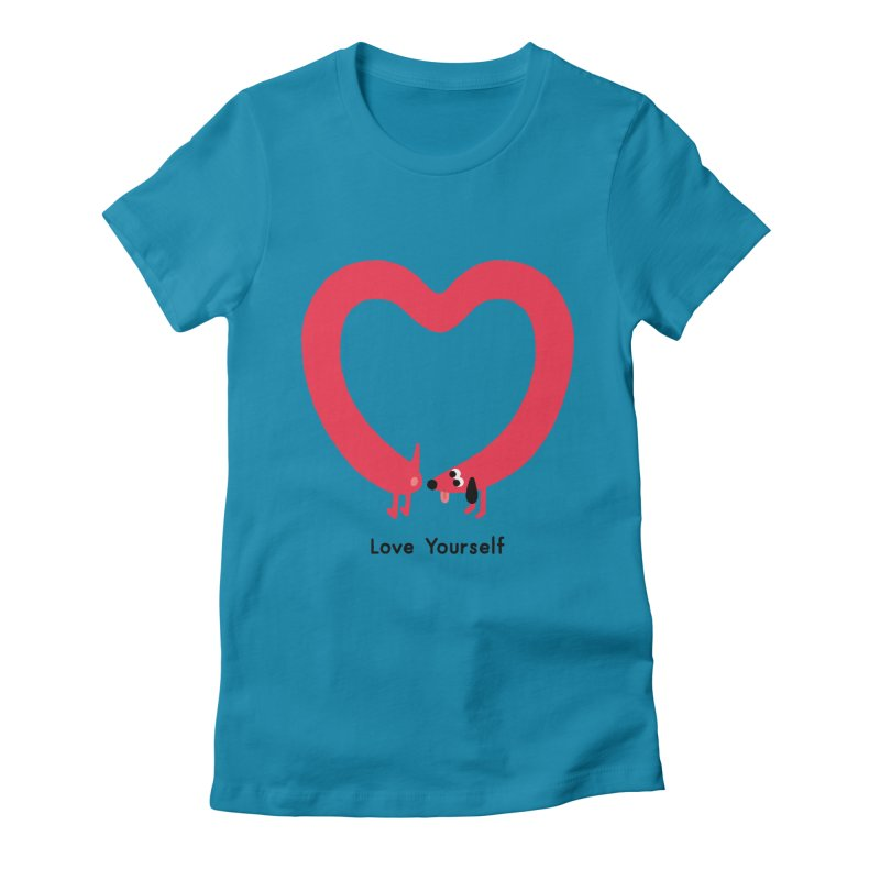 Love Yourself Women's Fitted T-Shirt by Mauro Gatti House of Fun