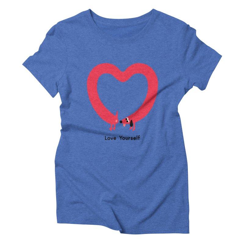 Love Yourself Women's Triblend T-Shirt by Mauro Gatti House of Fun