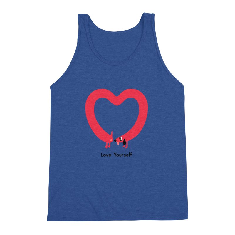 Love Yourself Men's Triblend Tank by Mauro Gatti House of Fun
