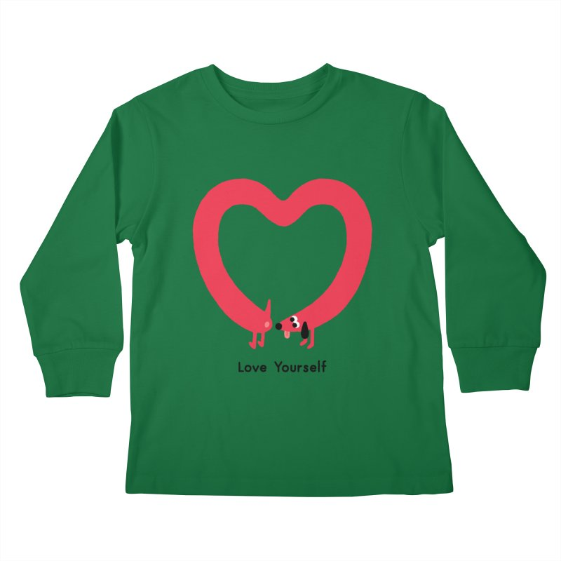 Love Yourself Kids Longsleeve T-Shirt by Mauro Gatti House of Fun