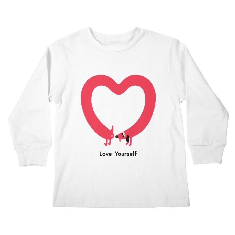 Love Yourself Kids Longsleeve T-Shirt by Mauro Gatti House of Fun