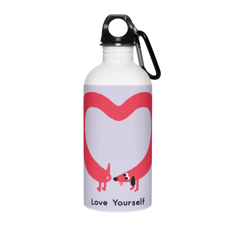 Love Yourself Accessories Water Bottle by Mauro Gatti House of Fun