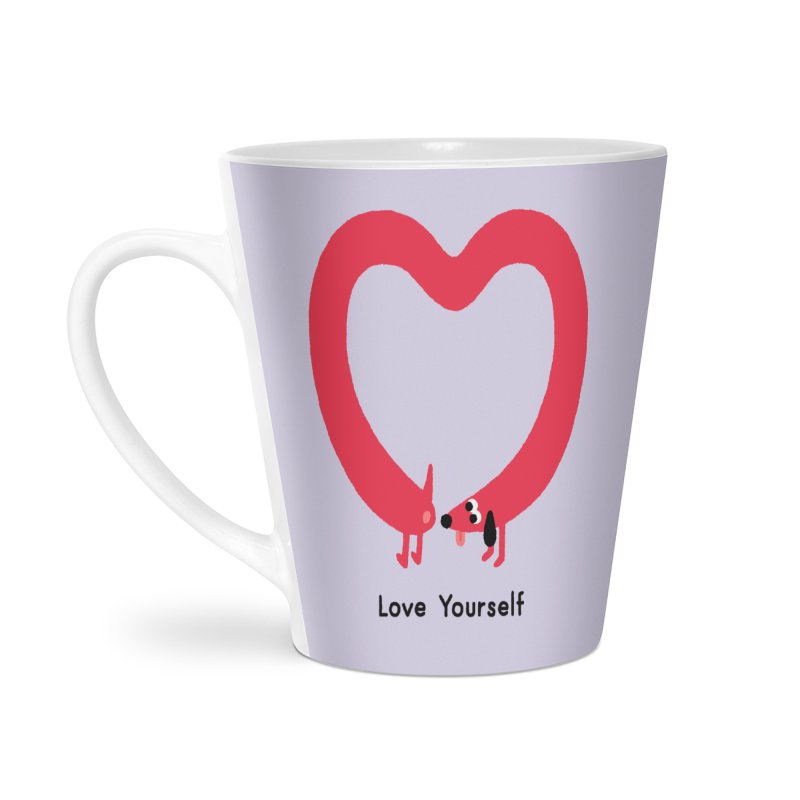 Love Yourself Accessories Latte Mug by Mauro Gatti House of Fun