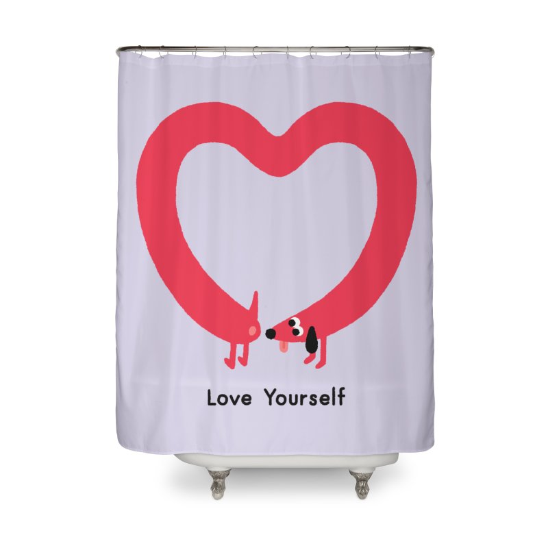 Love Yourself Home Shower Curtain by Mauro Gatti House of Fun