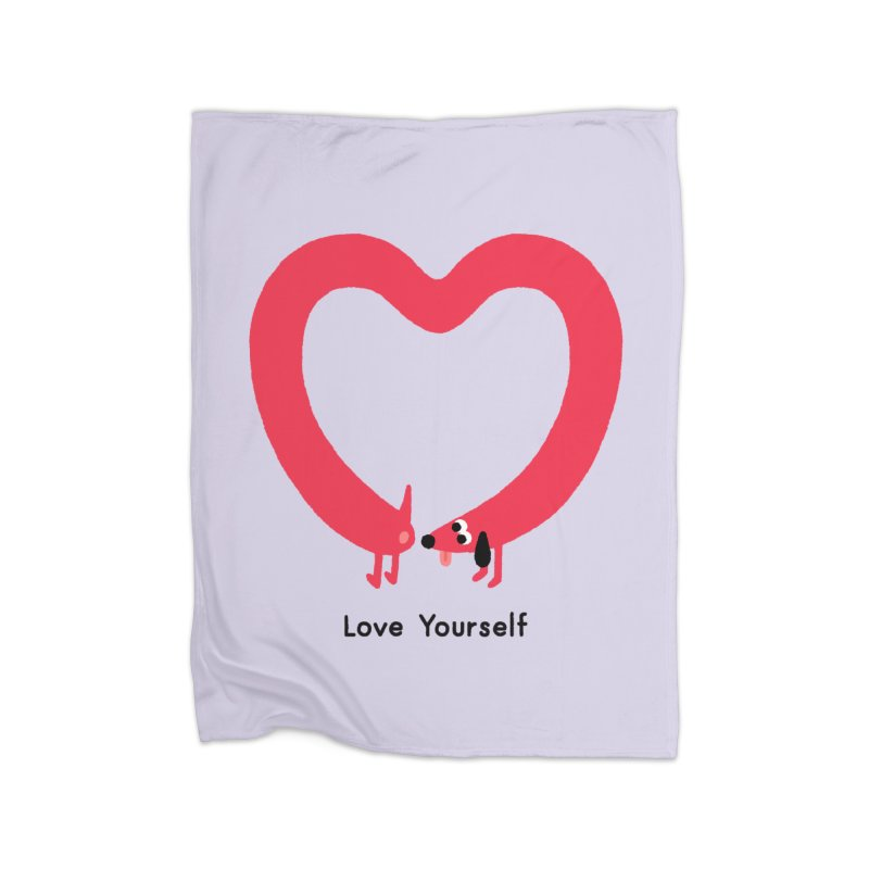 Love Yourself Home Fleece Blanket Blanket by Mauro Gatti House of Fun
