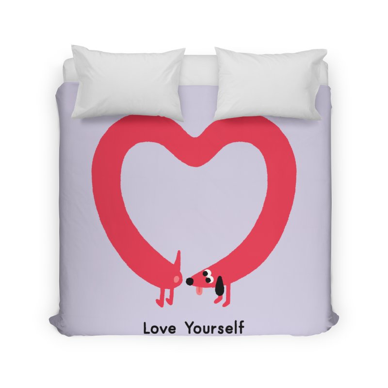 Love Yourself Home Duvet by Mauro Gatti House of Fun