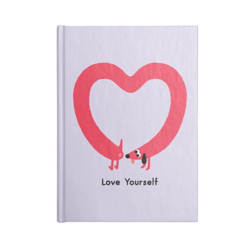 Love Yourself Accessories Lined Journal Notebook by Mauro Gatti House of Fun