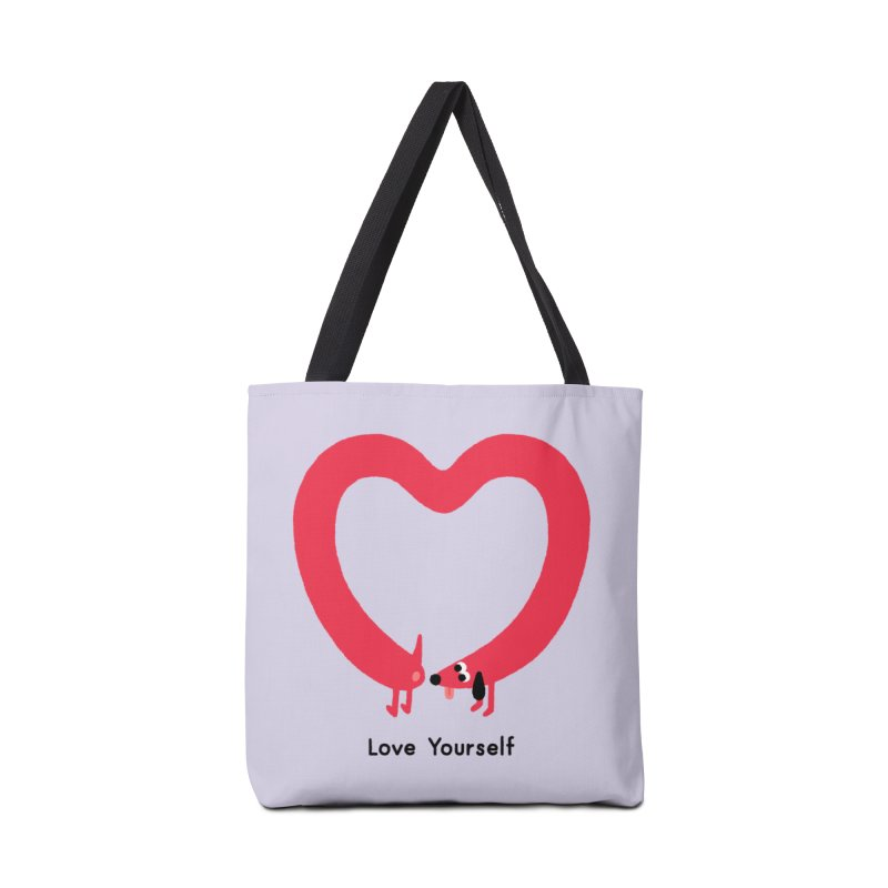 Love Yourself Accessories Tote Bag Bag by Mauro Gatti House of Fun