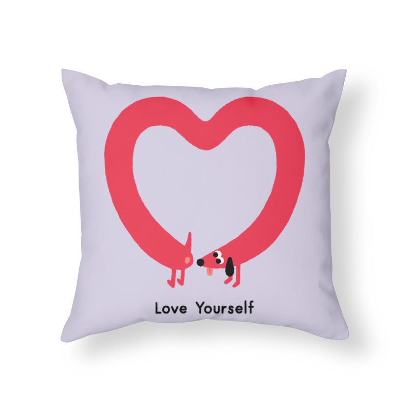 Love Yourself Home Throw Pillow by Mauro Gatti House of Fun