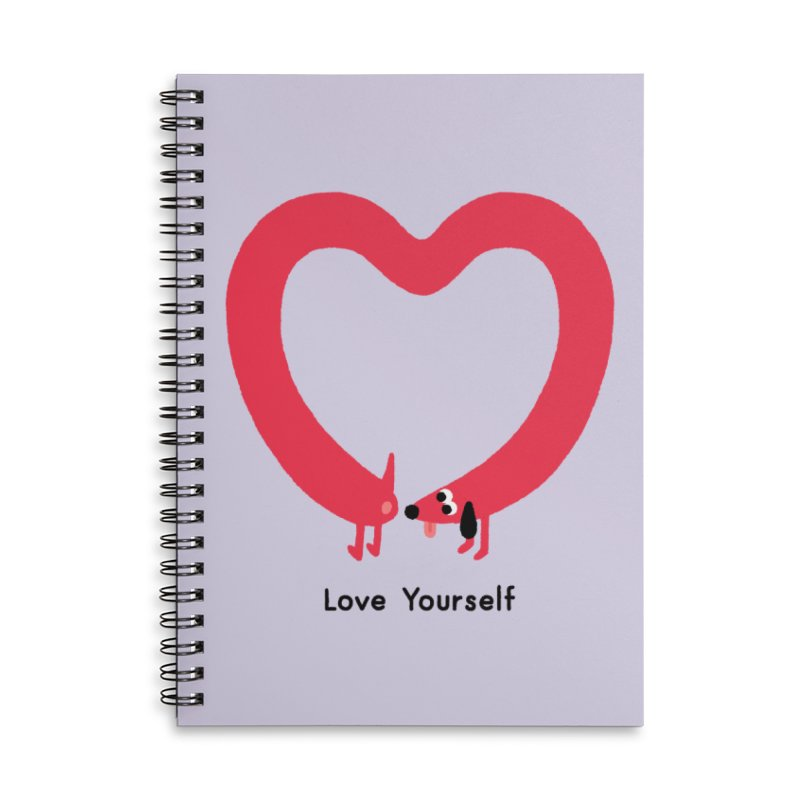 Love Yourself Accessories Lined Spiral Notebook by Mauro Gatti House of Fun