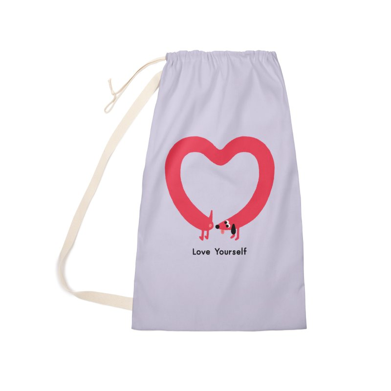 Love Yourself Accessories Laundry Bag Bag by Mauro Gatti House of Fun