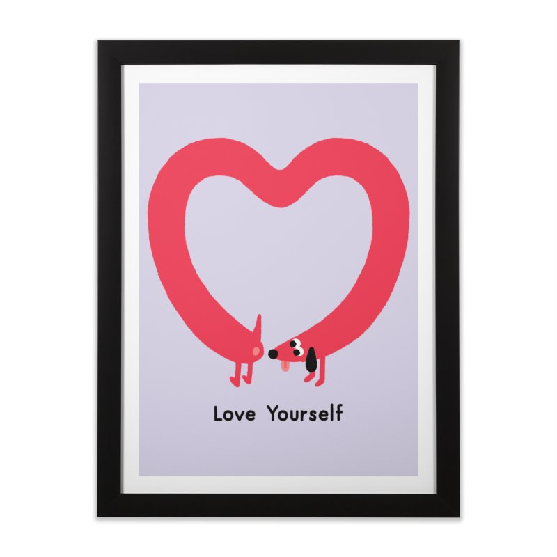 Love Yourself Home Framed Fine Art Print by Mauro Gatti House of Fun