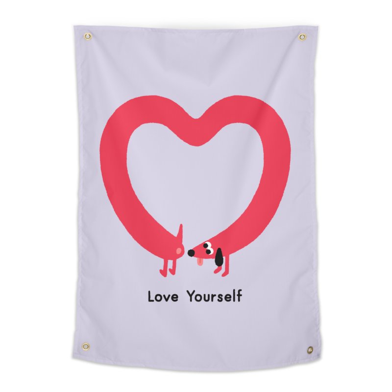Love Yourself Home Tapestry by Mauro Gatti House of Fun