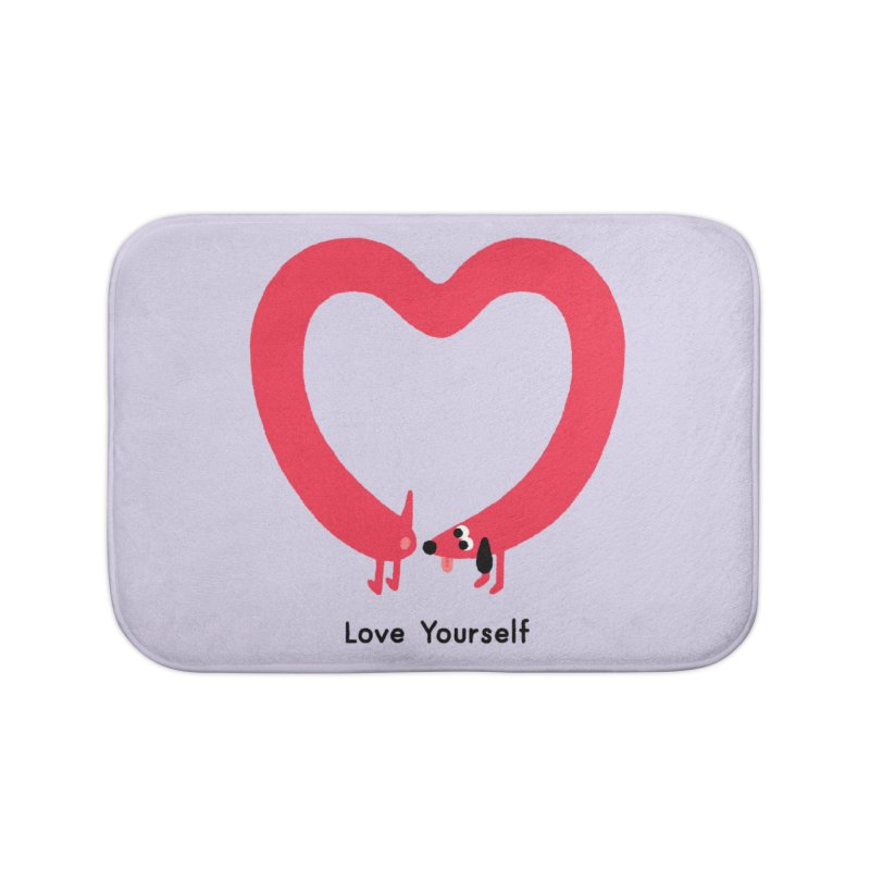 Love Yourself Home Bath Mat by Mauro Gatti House of Fun
