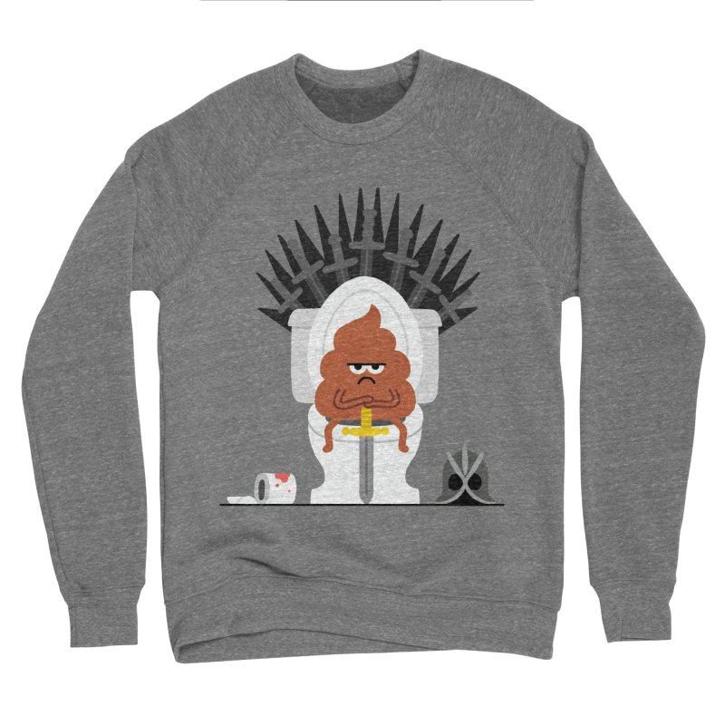 Game of Toilet Women's Sponge Fleece Sweatshirt by Mauro Gatti House of Fun