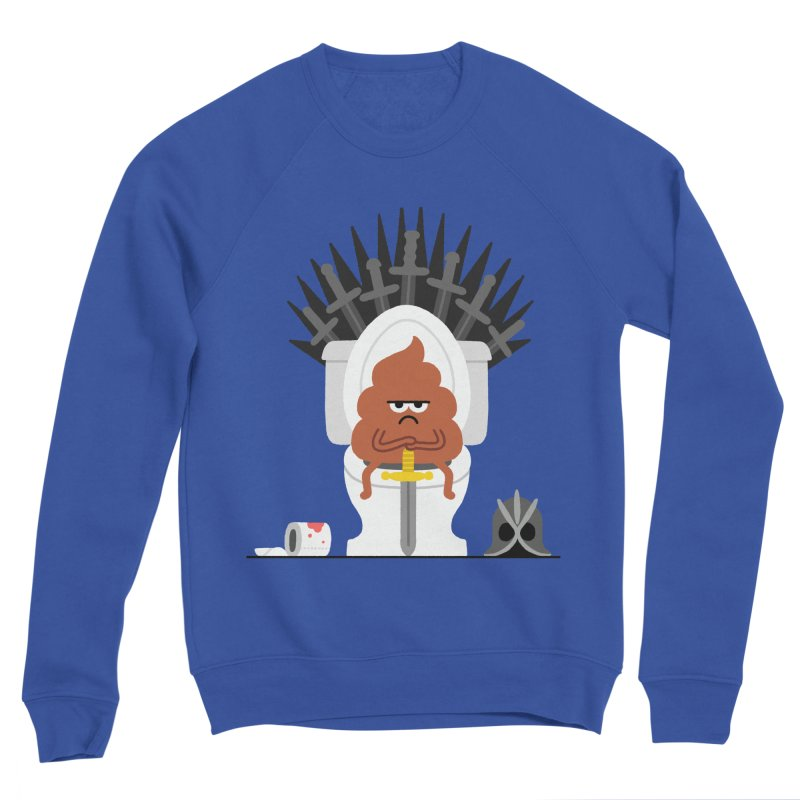 Game of Toilet Men's Sponge Fleece Sweatshirt by Mauro Gatti House of Fun