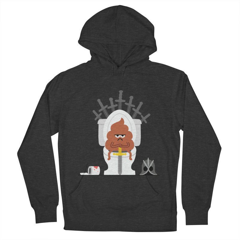 Game of Toilet Women's French Terry Pullover Hoody by Mauro Gatti House of Fun